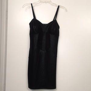 Foreign Exchange Snake Print Dress M Black